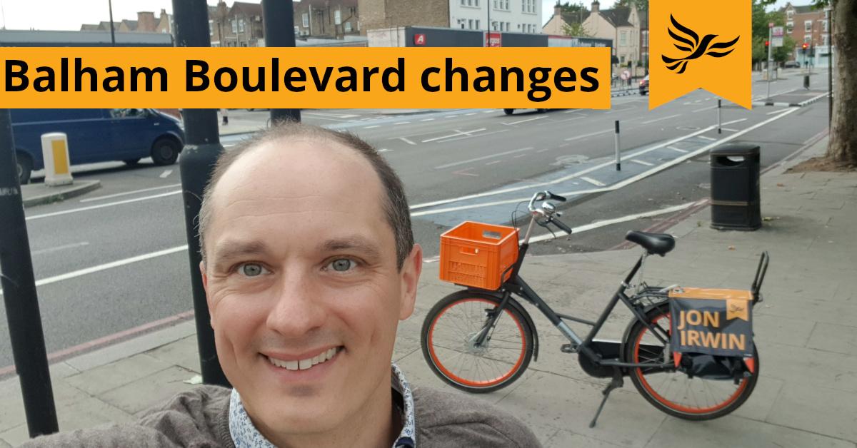 Balham Boulevard changes