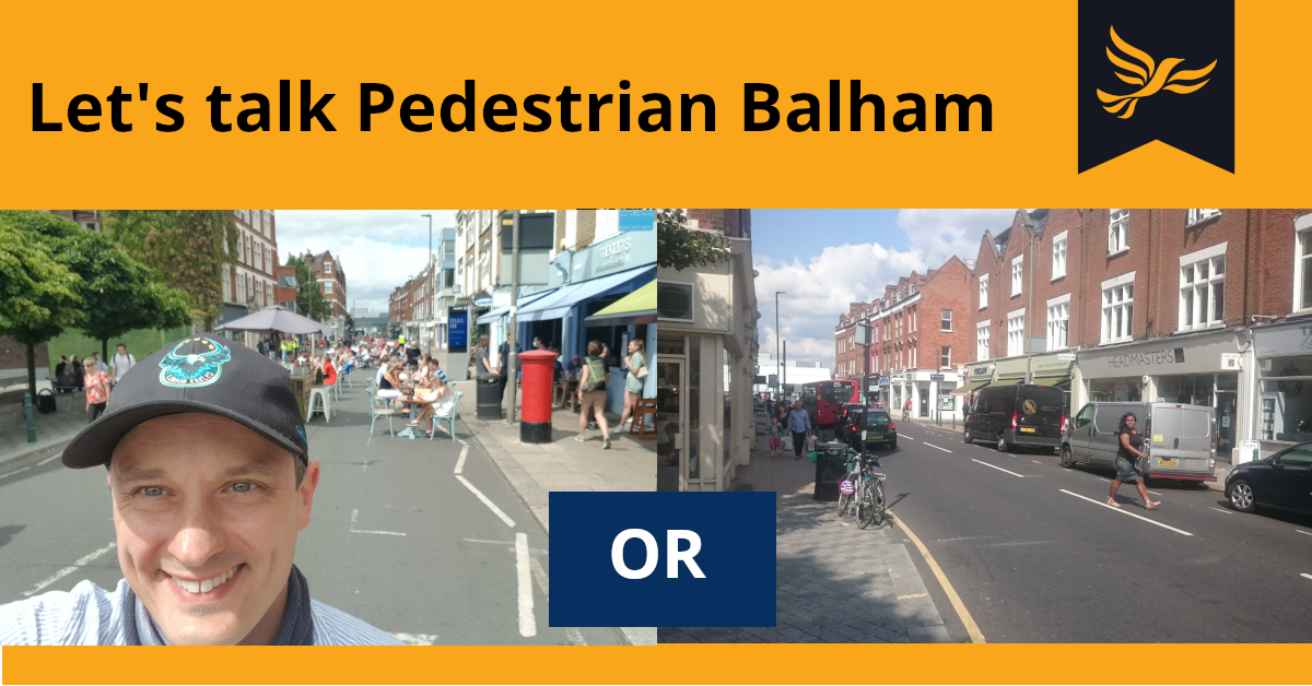 Lets talk Pedestrian Balham Petition 2020