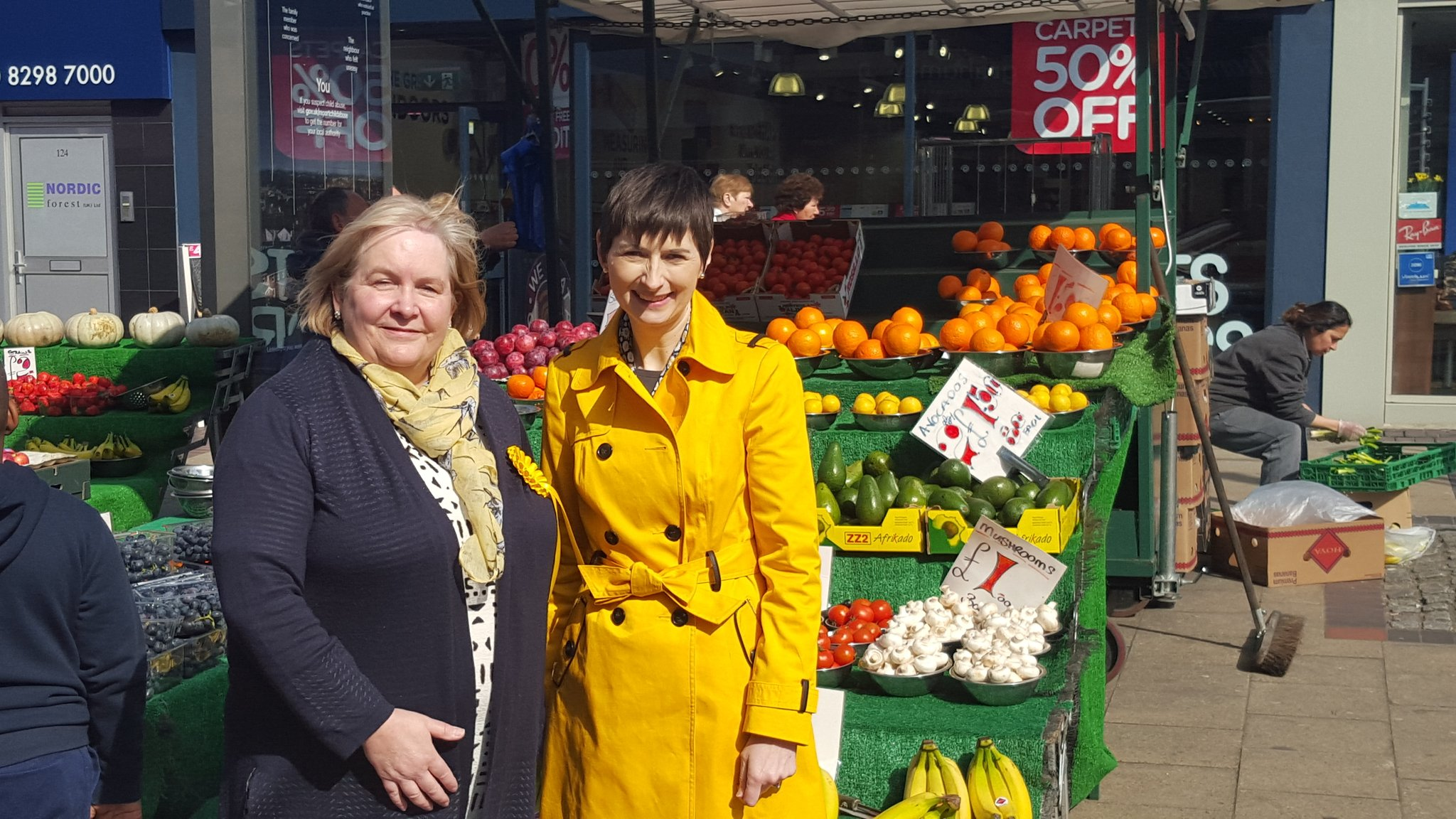 Caroline in Bexleyheath with Julie Ireland