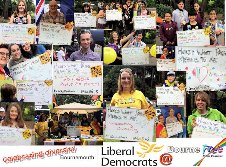 Liberal Democrats take Pride in Bournemouth