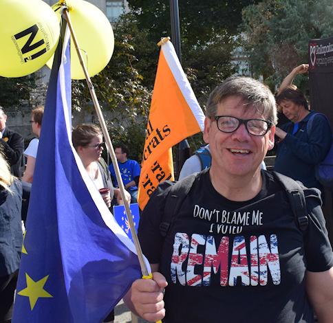 Phil Dunn flies the flag for Bournemouth Lib Dems