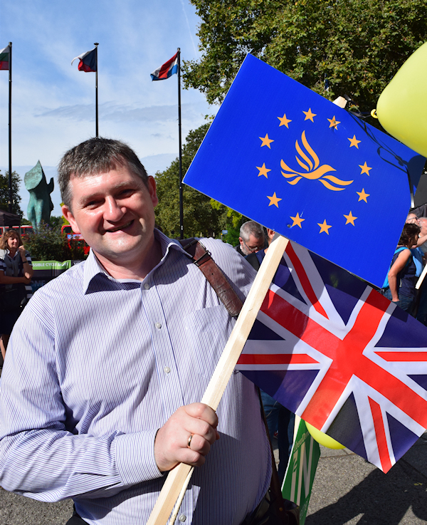 Local Member Greg Nowak at the March for Europe