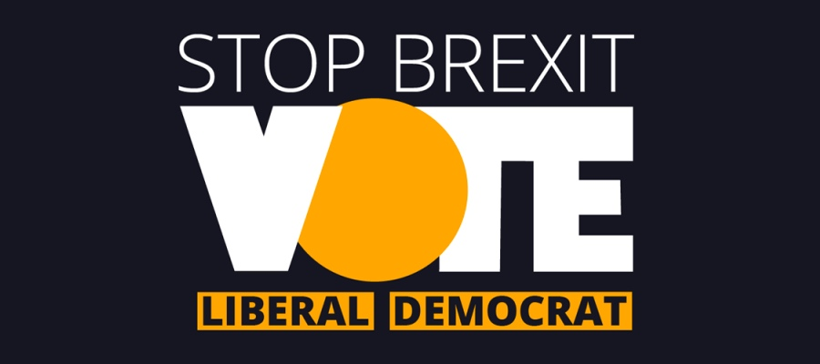 Stop Brexit - Vote Liberal Democrat - European Elections 2019
