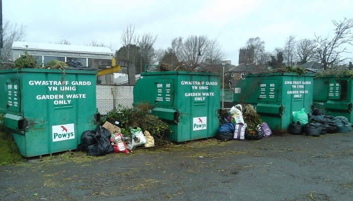 Recycling in Powys