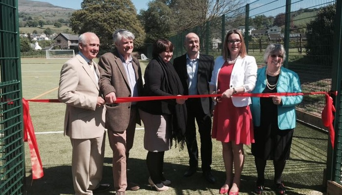 Official opening of Crickhowell High School's sports pitches