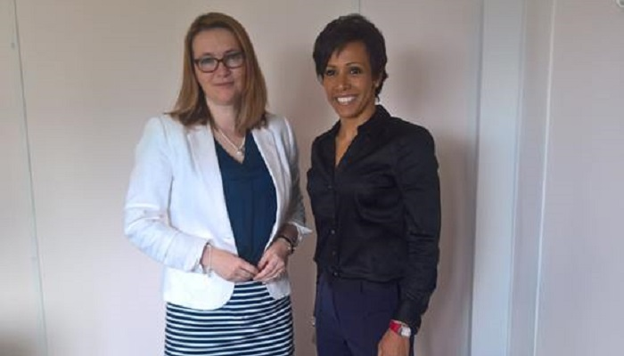 Dame Kelly Holmes visits the Welsh Assembly