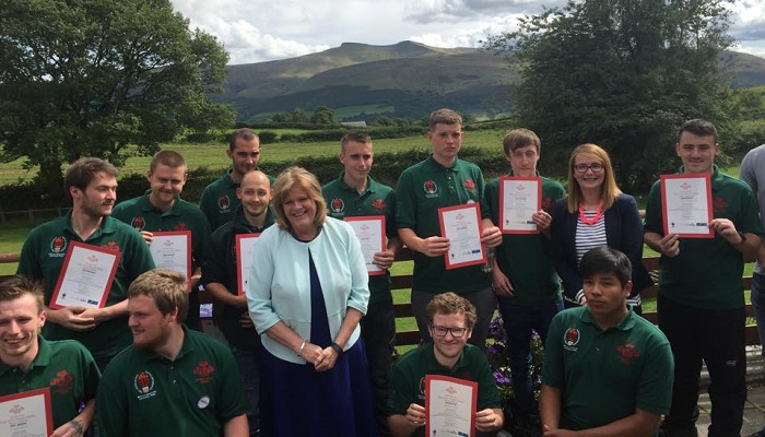 Kirsty Williams joins celebration of young people gaining rural skills