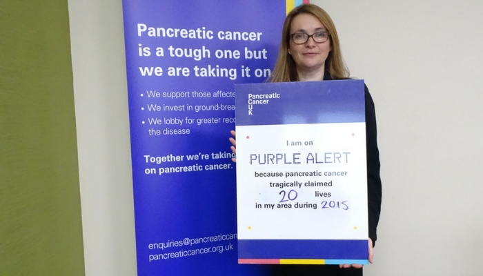 Kirsty Williams AM on Purple Alert to change the future for people affected by pancreatic cancer in Brecon and Radnorshire