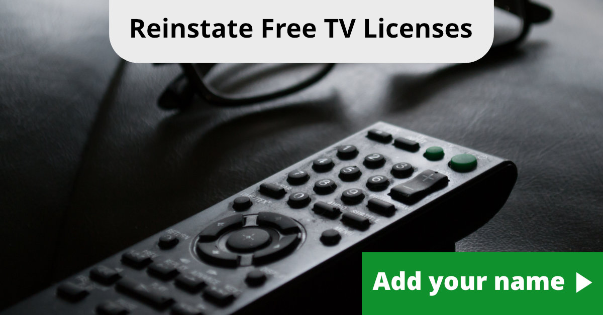 Reinstate Free TV Licenses For Over 75s