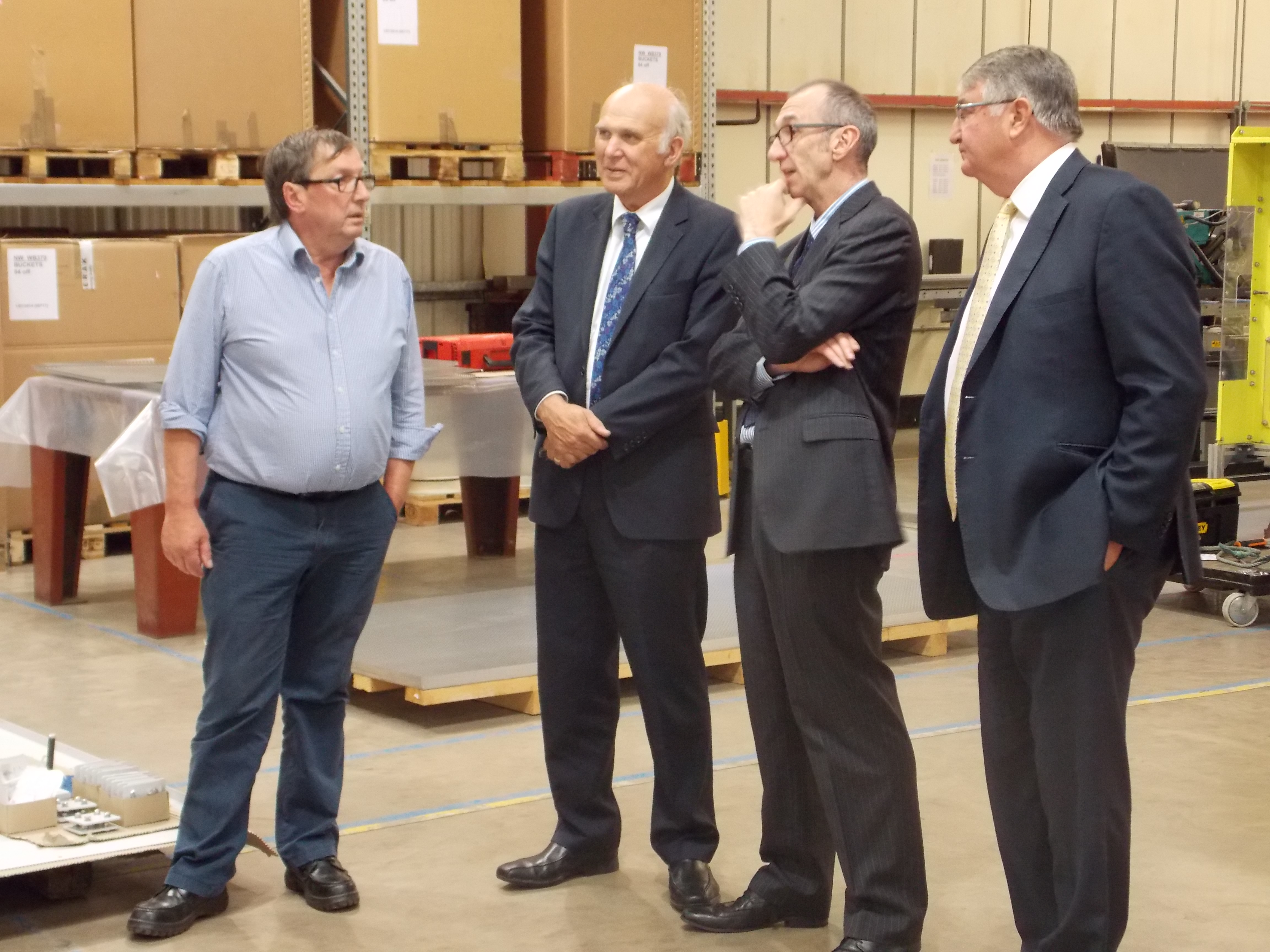 Vince meets local Business Success Story