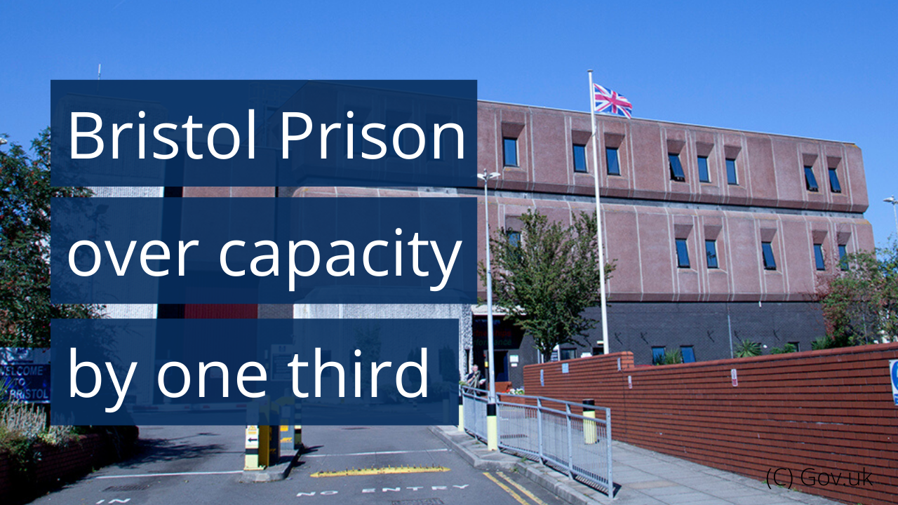 Bristol Prison over capacity by one third