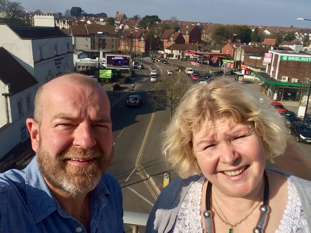 'Andrew and Jos in Brislington Village, where air pollution regularly exceeds acceptable levels'