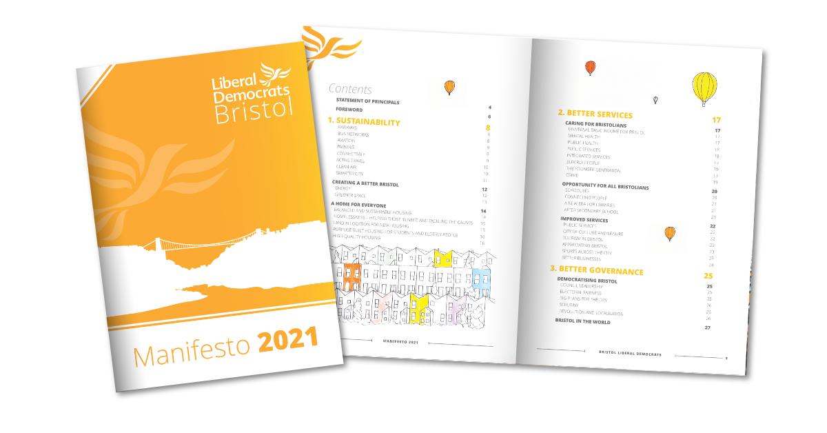 Bristol Liberal Democrat Manifesto 2021