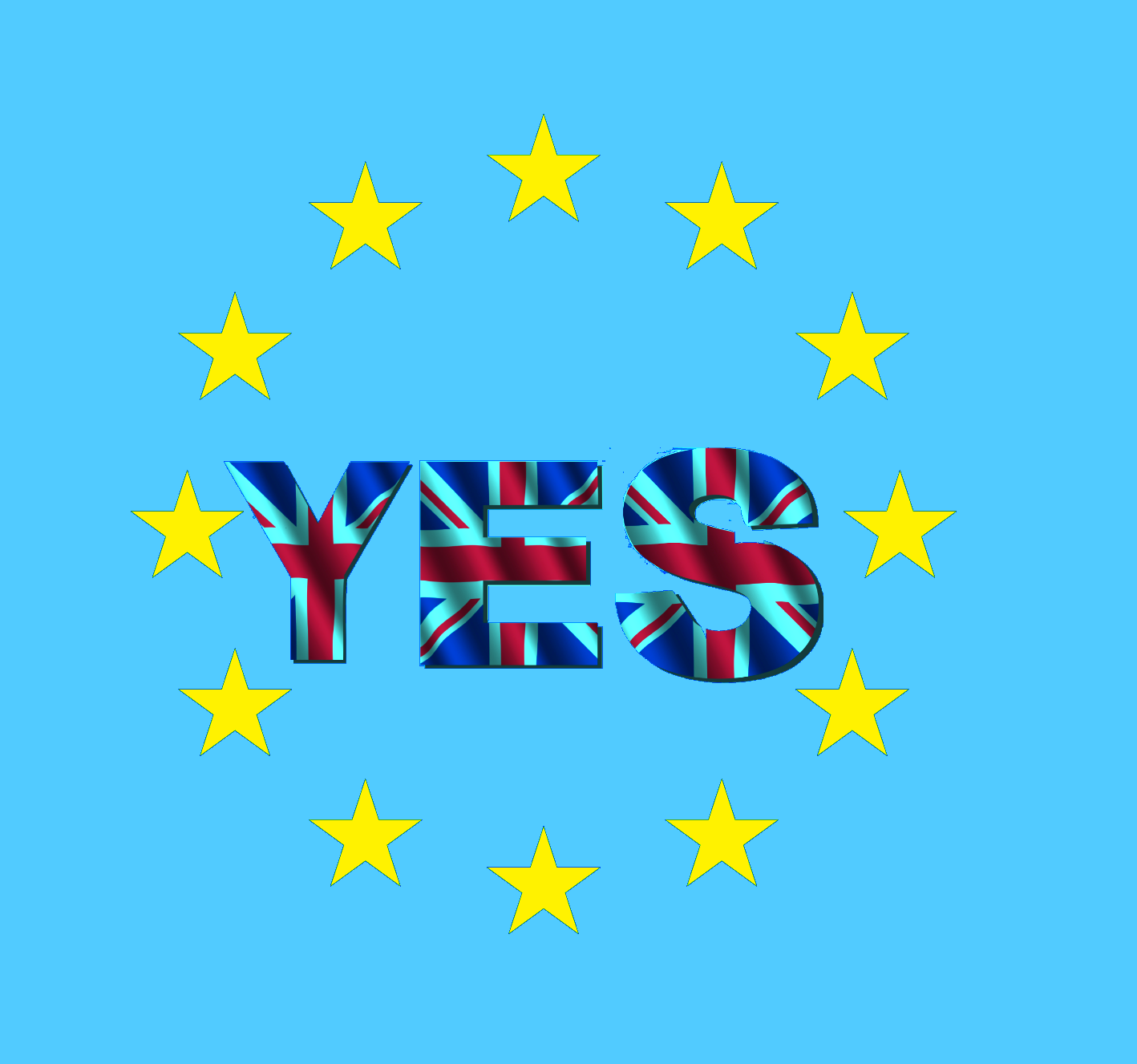 Yes to EU logo