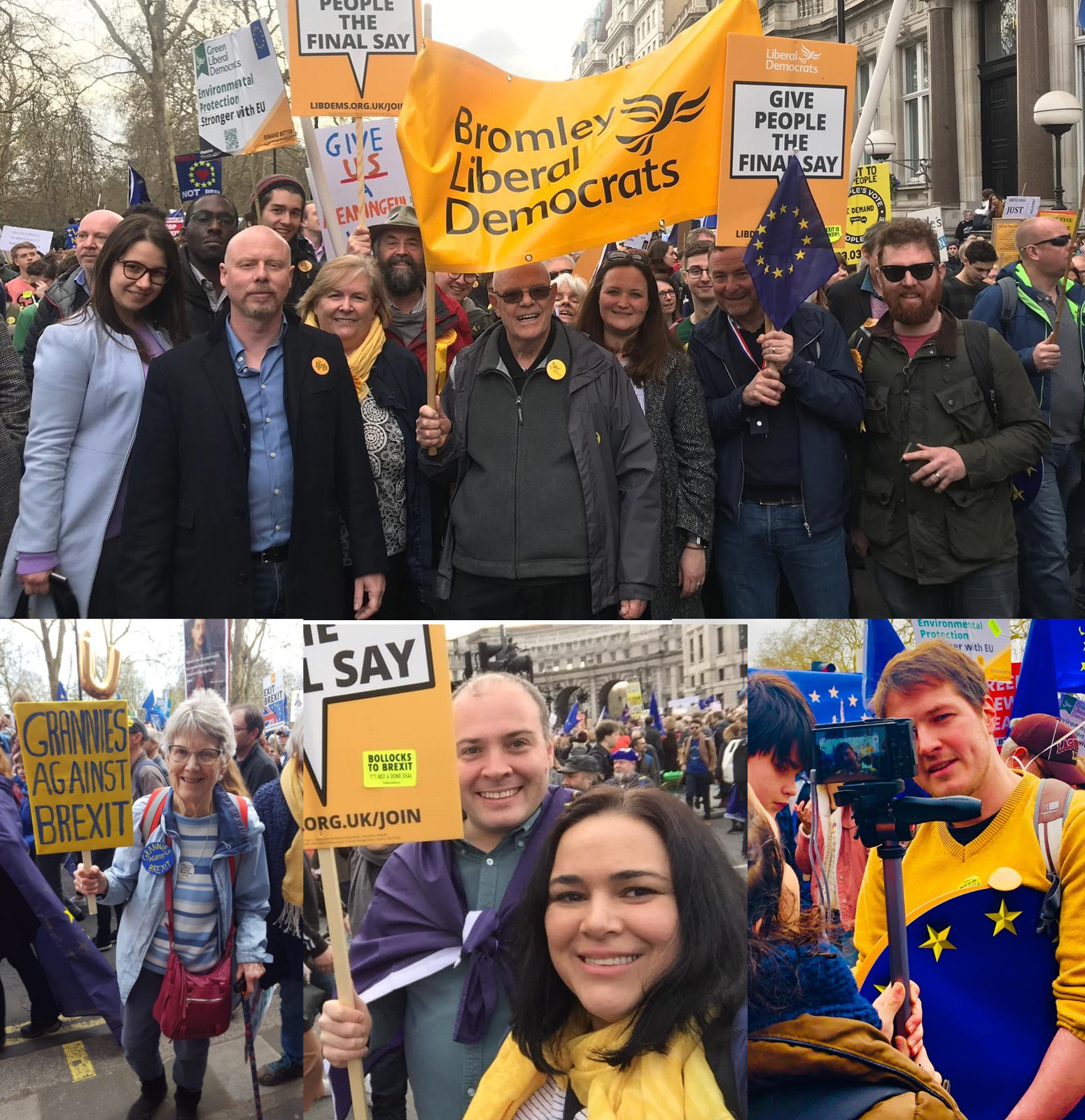 Bromley Liberal Democrats Join 1 Million on March Against Brexit