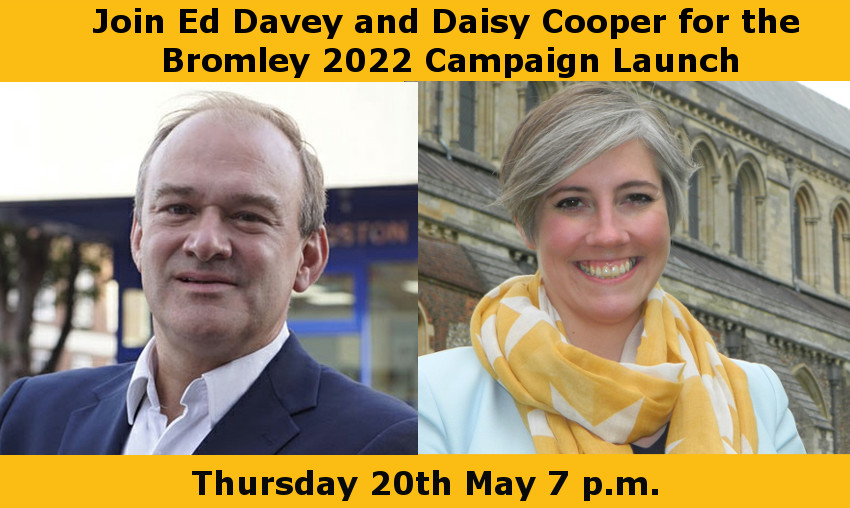 Campaign Launch with Ed Davey and Daisy Cooper