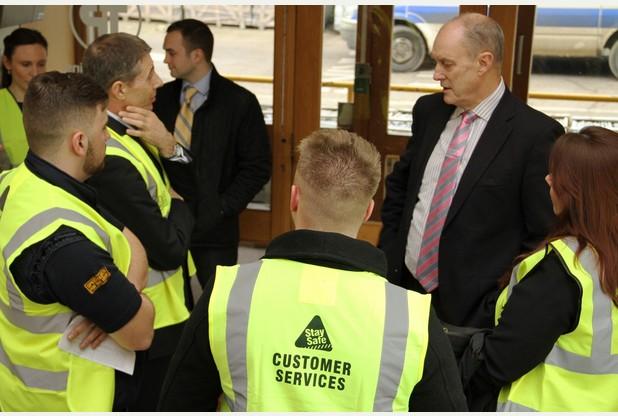 Gordon visits Travis Perkins apprentices
