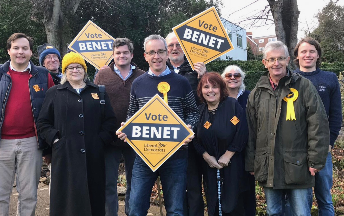 Volunteers with Vote Benet