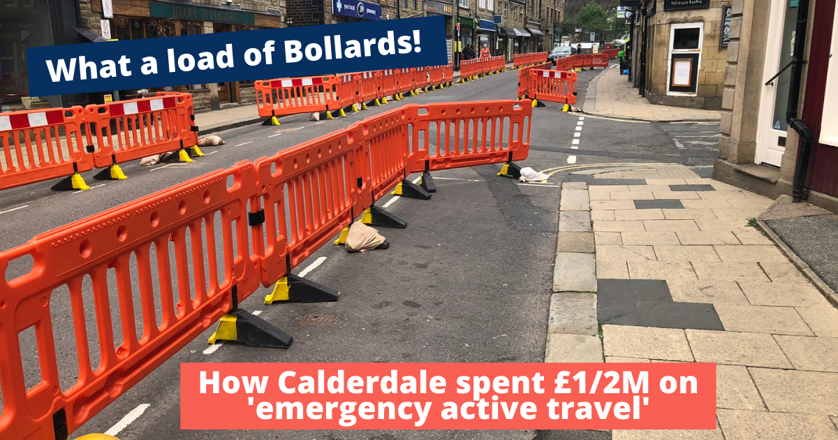 What a load of Bollards - How the Council spent £1/2M on 'emergency active travel'