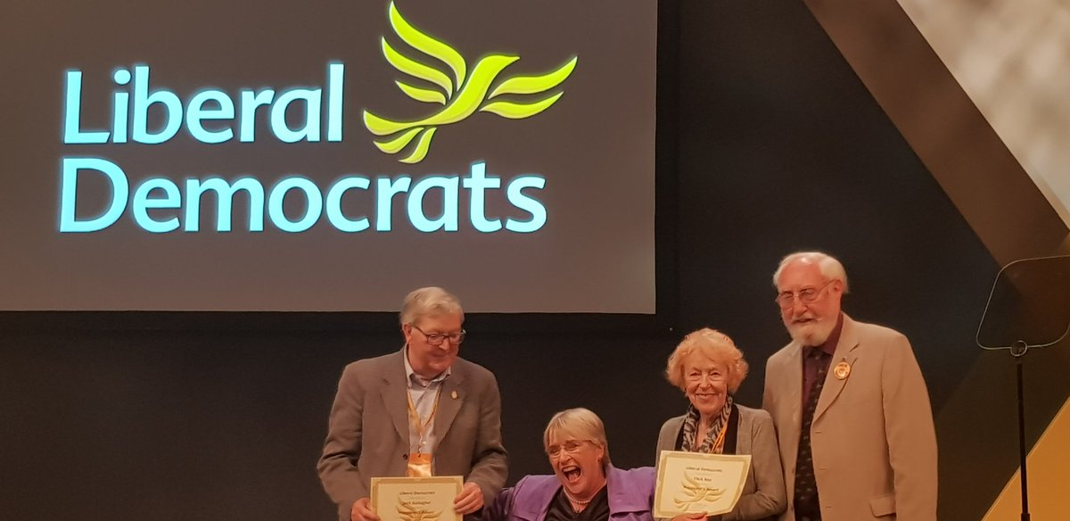 """Unstoppable force of liberalism,"" Flick Rea wins Lib Dem President award!"