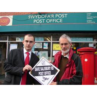 Joseph Carter and Simon Wakefield at Salisbury Road Post Office