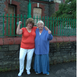 Jacquie and Ann are delighted that Cardiff Council has helped save the Hawthorn School site