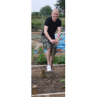 Cllr. Ed Bridges at Flaxland Allotments
