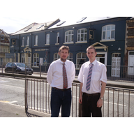 Cllr. Gareth Holden and Cllr. Ed Bridges by the North Star pub