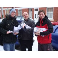 Gabalfa Focus Team delivering in snow