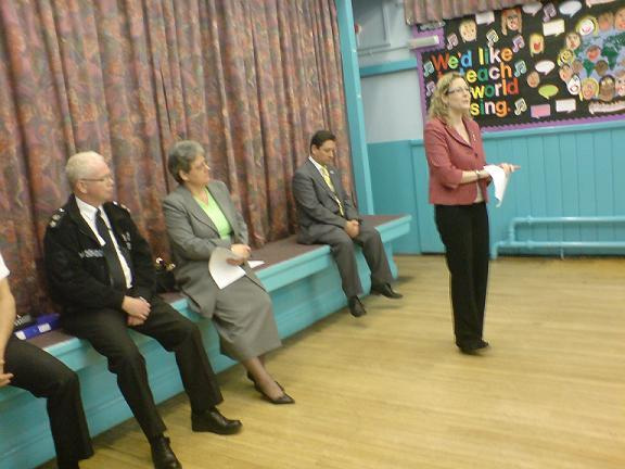 Jenny spoke at a public meeting over the planned closure of four of the city's central police stations