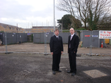 Gareth Holden and Cllr. Ed Bridges by Northlands