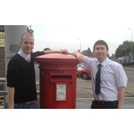 Cllr. Ed Bridges and Ashley Wood - stock photo