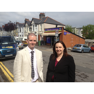 Ed Bridges and Eluned Parrott on Clodien Avenue