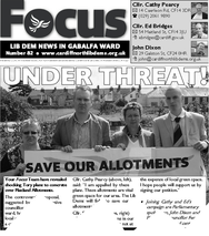 How the Focus Team reported the Tory threat to Flaxland Allotments back in 2008