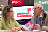At the Which? energy advice surgery in Cardiff