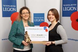 Jenny makes the British Legion Pledge