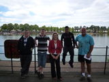 From left to right: volunteers Rhys, Damion, Jenny Willott MP, volunteer Ali and Placement Mentor Mike Gleeson
