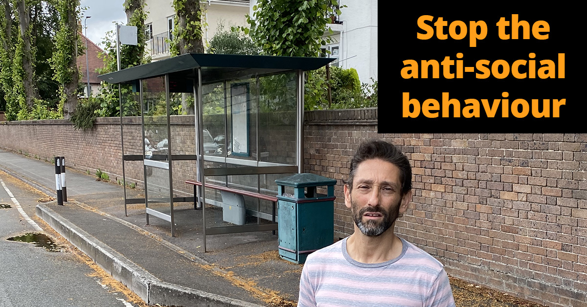 Stop the anti-social behaviour and remove the bus shelter