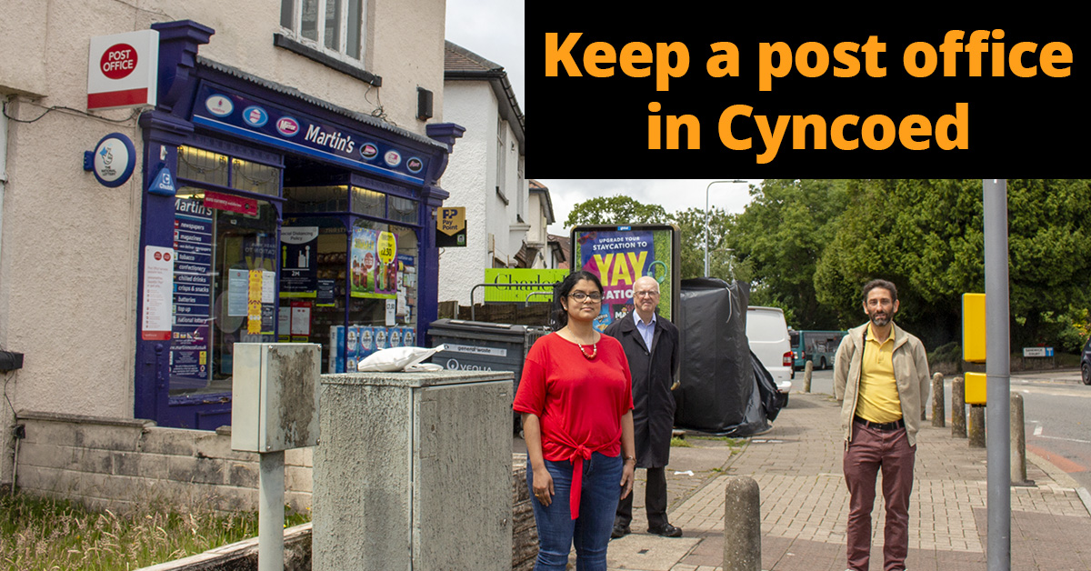 500 sign petition in first 24 hours to demand a post office is kept in Cyncoed