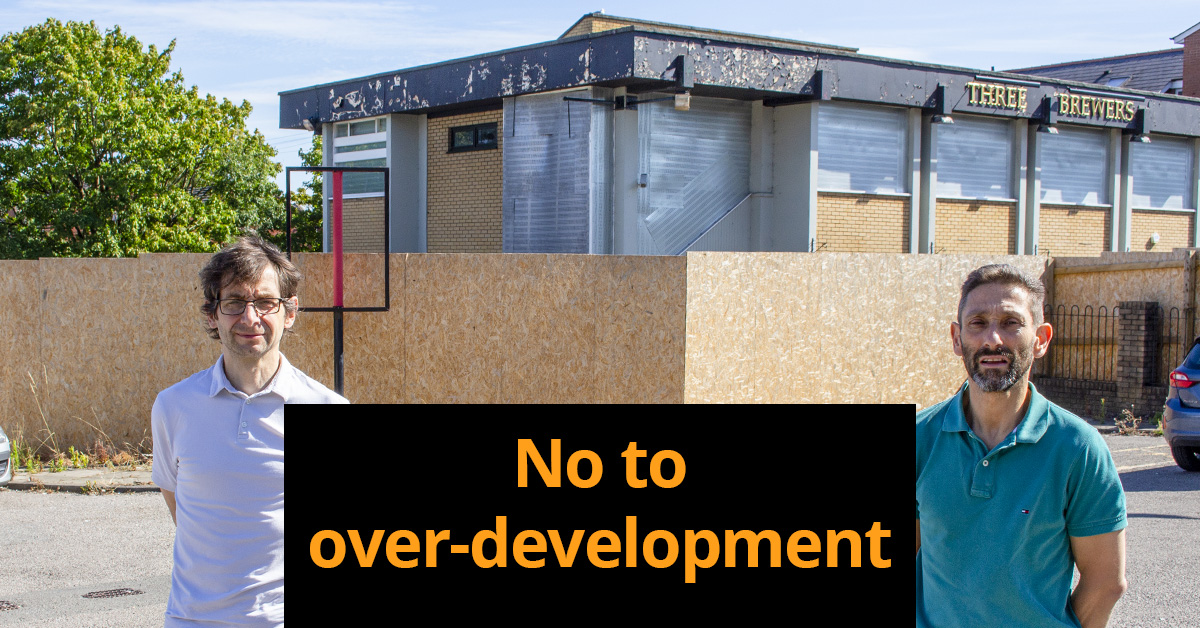 No to over-development of Three Brewers/Colchester Motor Co site