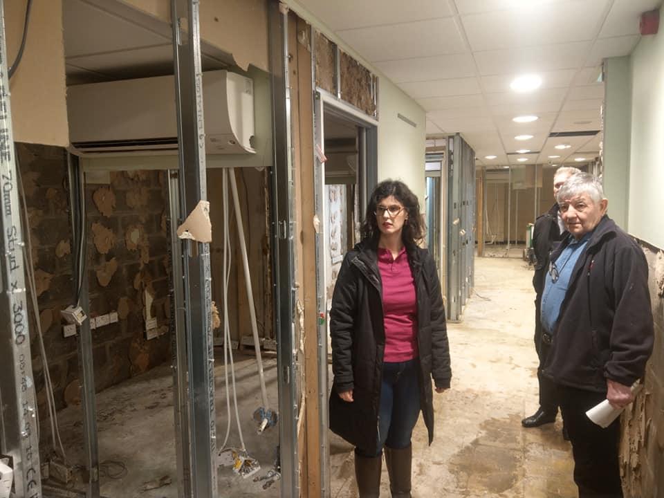 Layla Moran visits Pontypridd to see impact of recent flooding