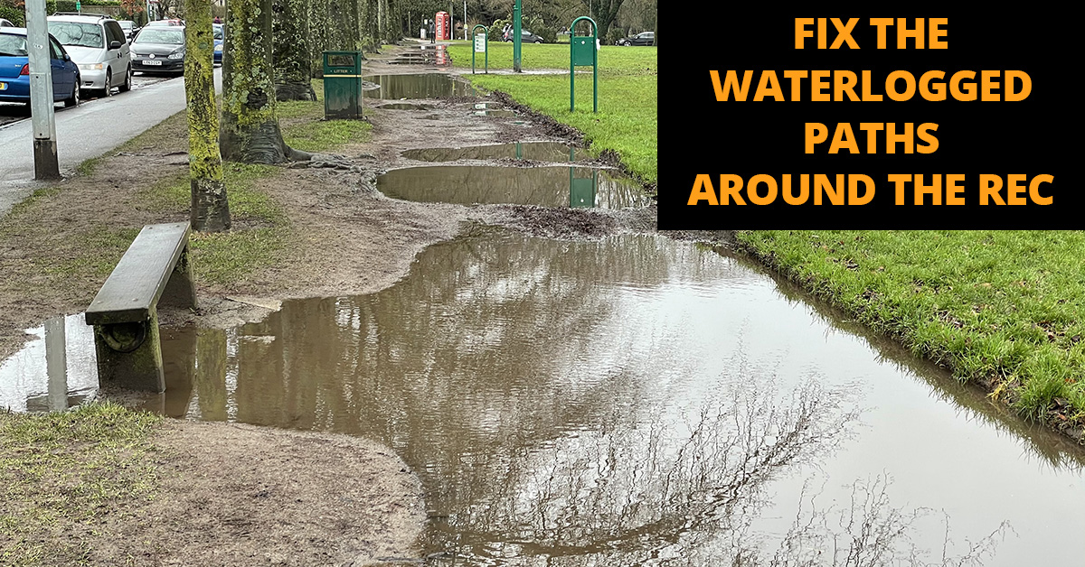 Fix the waterlogged paths around Roath Rec
