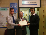 Cllr Dave Callaghan and MP Tom Brake at St Helier Hospital ()