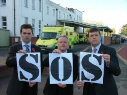 SOS Outside St Helier Ambulance