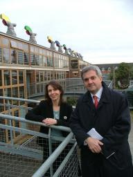 Chris Huhne and Sue Riddlestone at Bed Zed