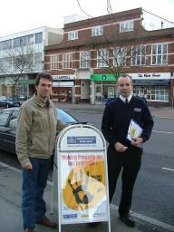 Tom Brake and Richard Webster Crime Prevention Officer in Wallington