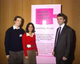 Tom Brake with Professor Nahman and researcher Patrick Kelly