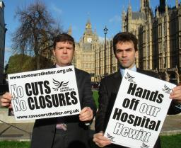 Tom Brake MP (right) and Paul Burstow MP Show Their Support for St Helier in Westminster