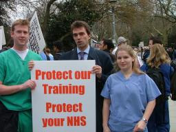 Tom Brake Joins Junior Doctors at London Rally