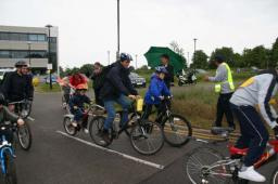 At the Start of the Family Fun Cycle Ride